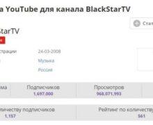 Сколько зарабатывает канал Black Star на Youtube