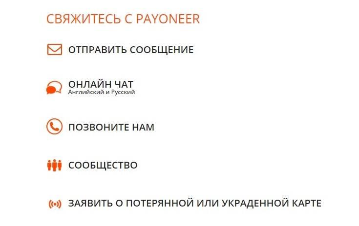 Связь с системой Payoneer