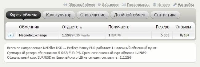 Вывод денег через обменник