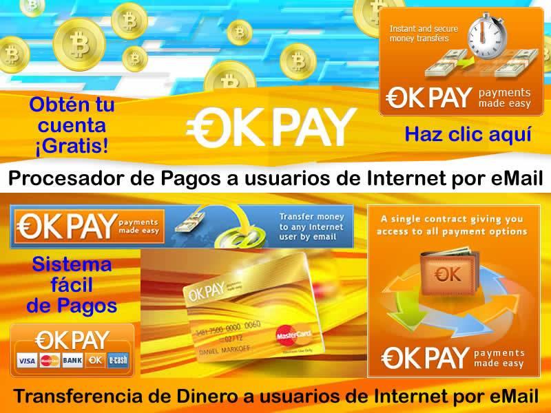 Пополнение счета в системе Okpay доступные способы
