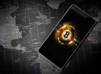 Монета BTC в телефоне