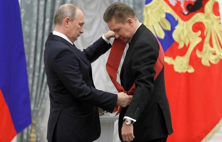 Путин с Миллером