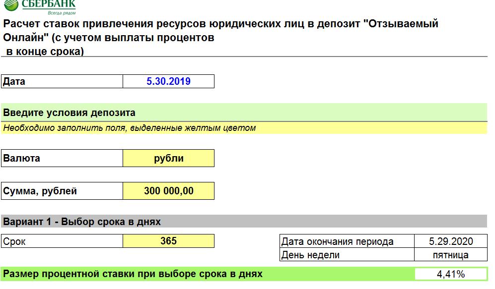 Отзываемый Онлайн расчёт ставок
