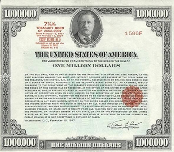 Государственная американская облигация