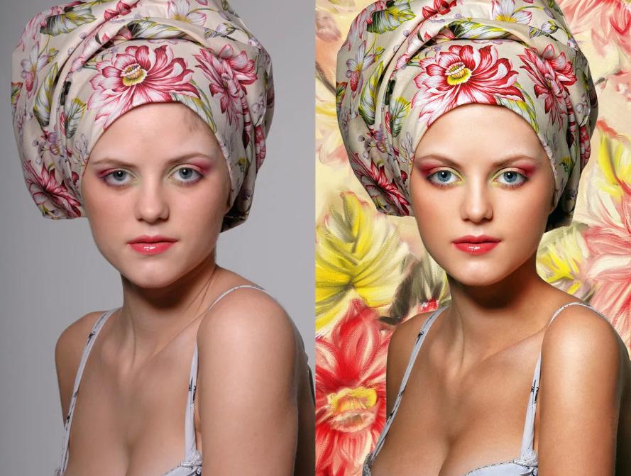 Снимок до и после