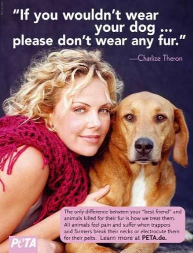 PETA с Шарлиз Терон