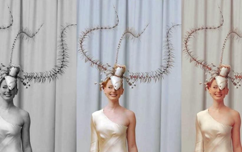 Девушки с шляпой