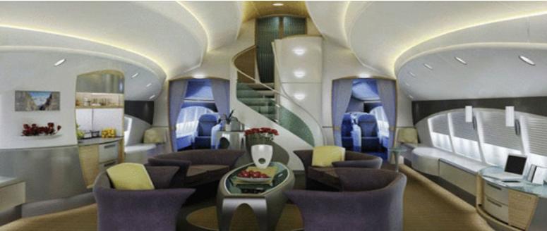 Интерьер Boeing 747-81 VIP