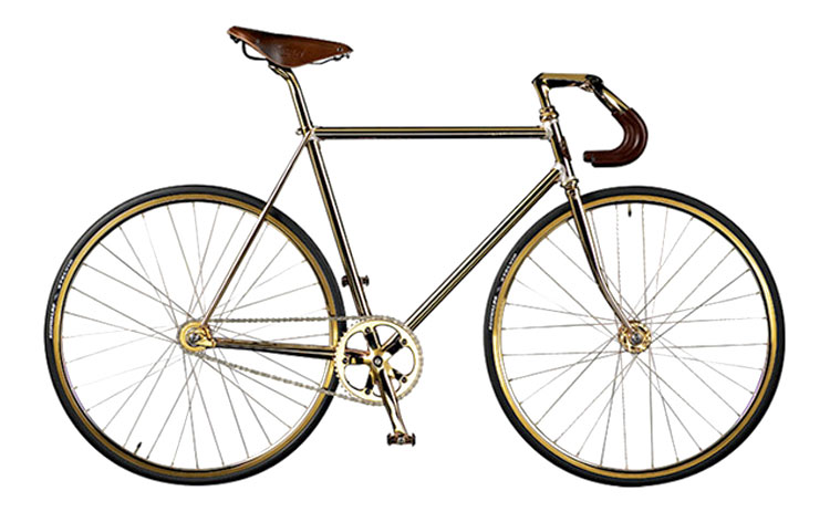 Auramania Crystal Edition Gold Bike