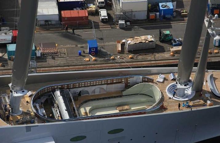 Sailing Yacht A, вид сверху