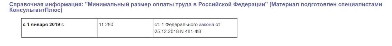 МРОТ 2019