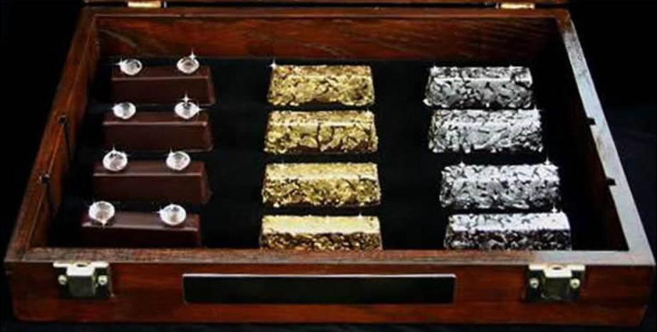 Золотые и бриллиантовые шоколадки