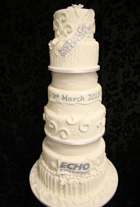 National Gay Wedding Show cake
