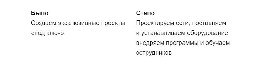 Пример важности конкретики в тексте