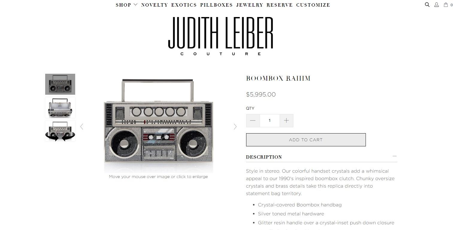 Клатч в видео магнитофона от Judith Leiber