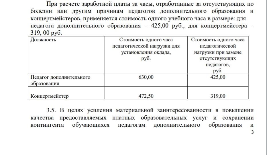 Условия оплаты учителям за оказание платных образовательных услуг