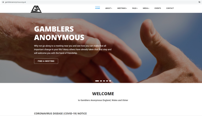 Сайт поддержки лудоманов
